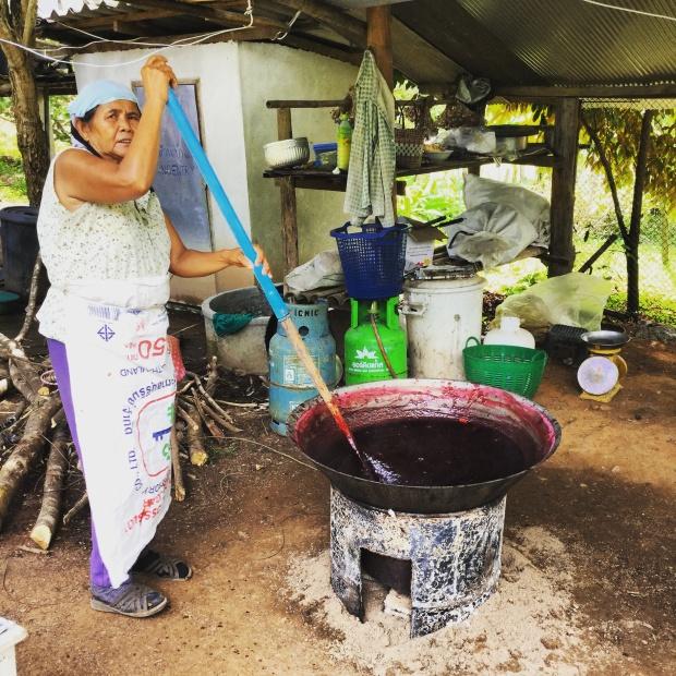 making rosella jam @ the landsplit