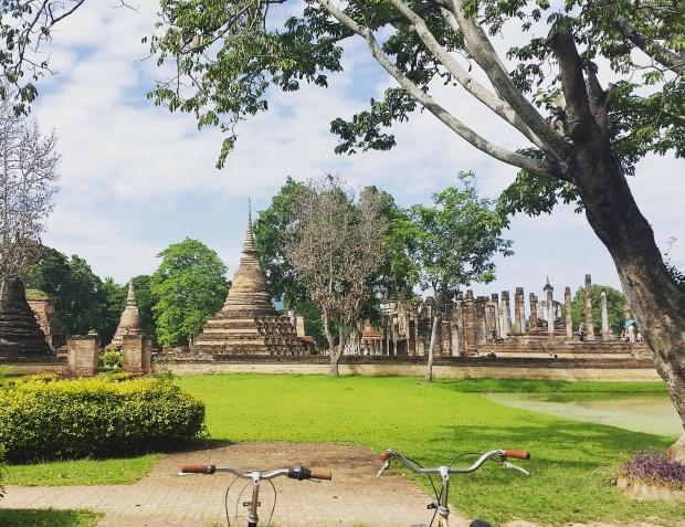 Biking around Sukhothai Historical Park