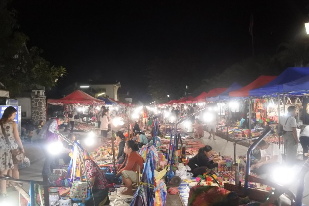Luang Prabang has a large and lively night market every evening